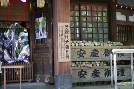 子安神社 本殿横の様子